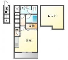 南島田町 アパート 1K間取り図