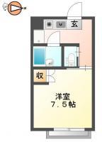 庄町 アパート 1K間取り図