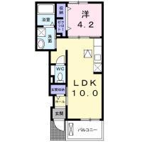 南矢三町 アパート 1LDK 105間取り図
