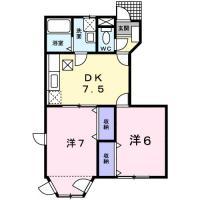 川内町北原 アパート 2DK 103間取り図