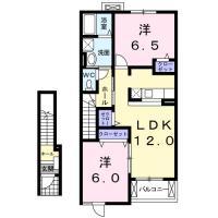 名東町 アパート 2LDK 202間取り図