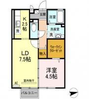 住吉 アパート 1LDK 203間取り図