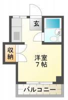 南昭和町 マンション 1R 305間取り図