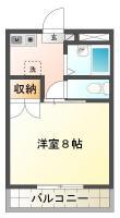 昭和町8丁目 マンション 1K 30C間取り図