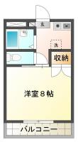 昭和町8丁目 マンション 1K間取り図