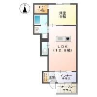 東吉野町 アパート 1LDK間取り図