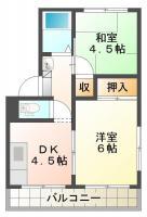 北島田町 アパート 2DK 201間取り図