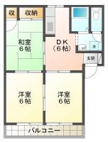 新浜本町 アパート 3DK間取り図