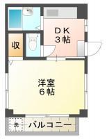 中吉野町 マンション 1DK 201間取り図
