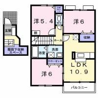 北田宮 アパート 3LDK 203間取り図