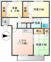 北田宮2丁目 マンション 3LDK 202間取り図
