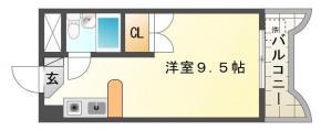 南前川町 マンション 1K間取り図