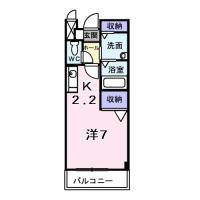グレイスフル 203間取り図