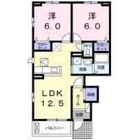 南庄町 アパート 2LDK間取り図