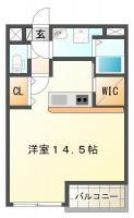 南島田町 マンション 1R間取り図