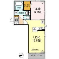 新南福島2丁目 アパート 1LDK間取り図