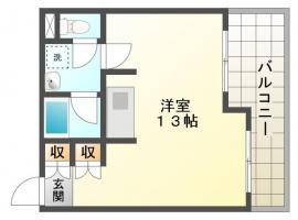 庄町 マンション 1R間取り図