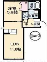 南庄町 アパート 1LDK間取り図