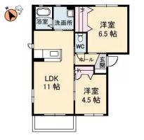 春日2丁目 アパート 2LDK間取り図