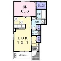 国府町和田字居内 アパート 1LDK 101間取り図