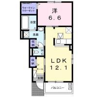 国府町和田字居内 アパート 1LDK 103間取り図