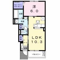 南島田町 アパート 1LDK 102間取り図