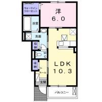 南島田町 アパート 1LDK 103間取り図