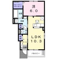 南島田町 アパート 1LDK 105間取り図