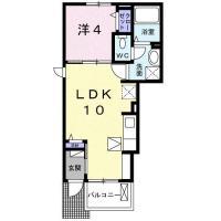庄町 アパート 1LDK 101間取り図