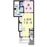 庄町 アパート 1LDK 103間取り図