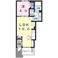 庄町 アパート 1LDK 105間取り図