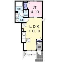 庄町 アパート 1LDK 106間取り図