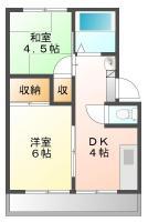 北島田町 アパート 2DK 5間取り図