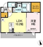 住吉 マンション 1LDK 203間取り図