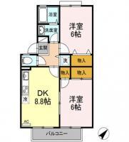 末広 アパート 2DK 103間取り図