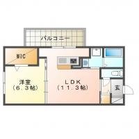 北田宮 マンション 1LDK 205間取り図