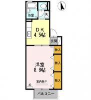 応神町 アパート 1DK C202間取り図