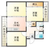 佐古八番町 マンション 3DK 202間取り図