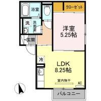 北田宮 アパート 1LDK 202間取り図