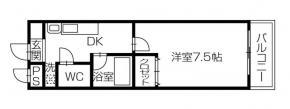 応神町 マンション 1DK 104間取り図