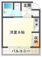 蔵本町 マンション 1R 301間取り図