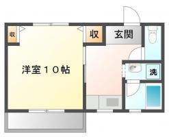 北田宮 アパート 1K 105間取り図