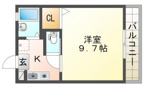 沖浜町中道 アパート 1K 101間取り図