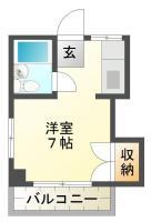 南昭和町 マンション 1R 201間取り図
