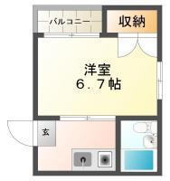 庄町 マンション 1K 501間取り図