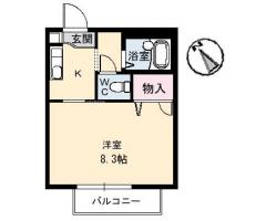 CASA安宅B 205間取り図