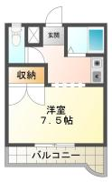 南庄町 マンション 1K 302間取り図