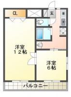南田宮 マンション 1DK 101間取り図