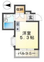 佐古三番町 マンション 1R 402間取り図