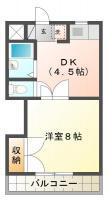 中常三島町 マンション 1K 104間取り図